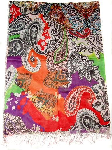 Manufacturer of Scarves made of Viscose, Floral Viscose Scarves, Animal Print Viscose Scarves, Viscose Digital Print scarves, Viscose Scarf,